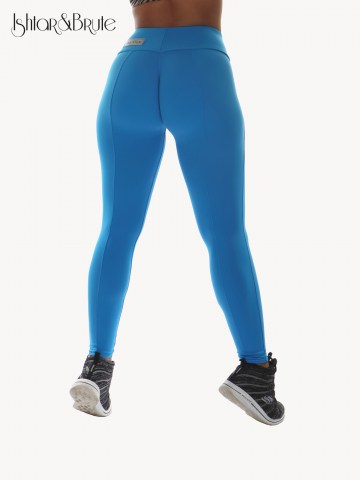 Ishtar and Brute Cheeks pants seamless front light blue matt spandex 4